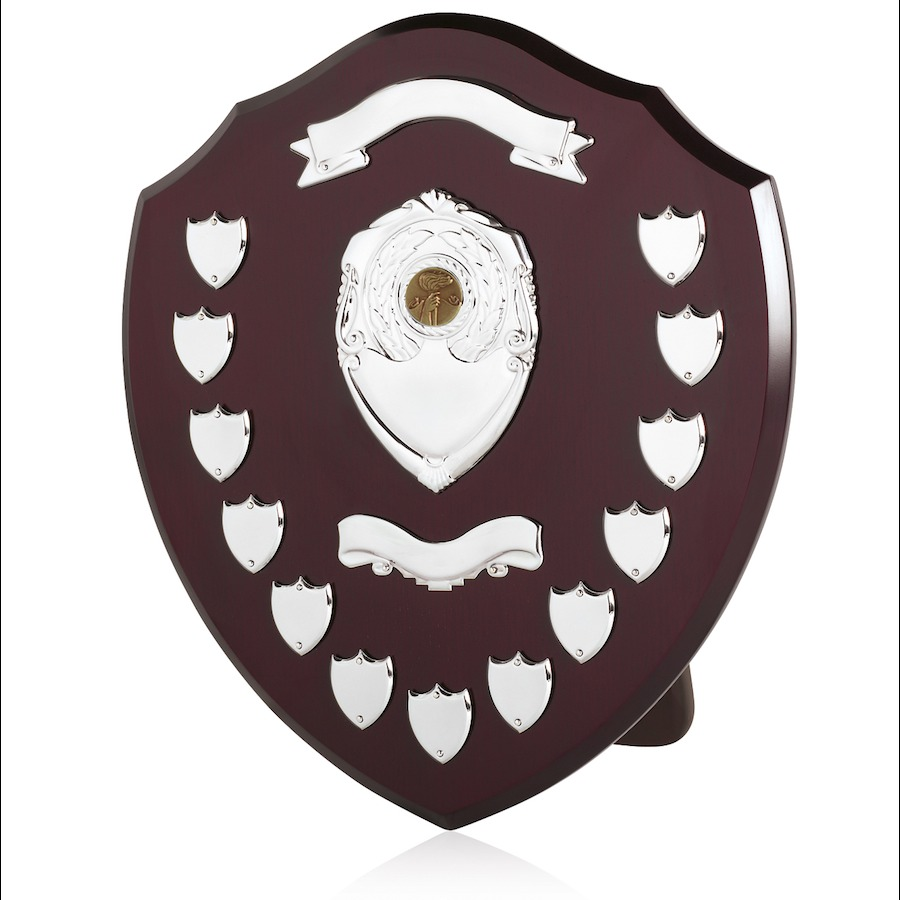 Large Traditional Trophy Winners Shield with Veneer Finish SV16