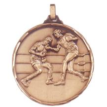 Faceted Boxing Medal