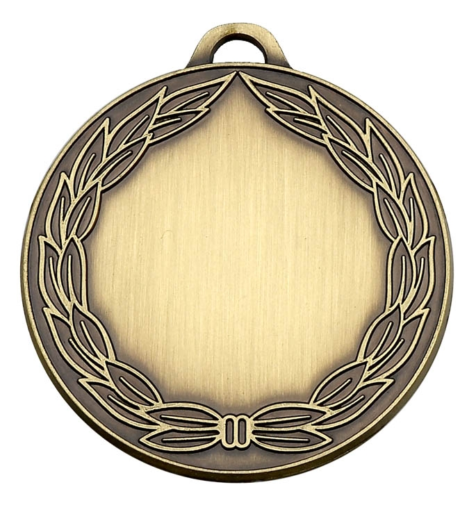 Classic Wreath 50mm Medal zoomed