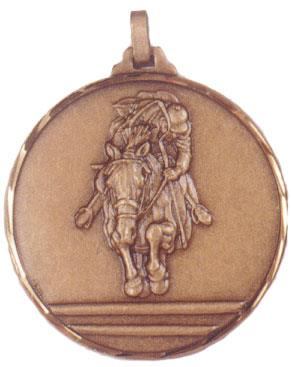 Faceted Equine Medal