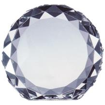 Optical Crystal Gem-Cut Circle