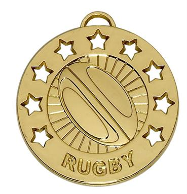 Spectrum 40mm Rugby Medal