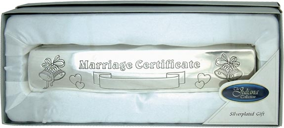 Silver Plated 'Juliana Collection' Marriage Certificate Holder