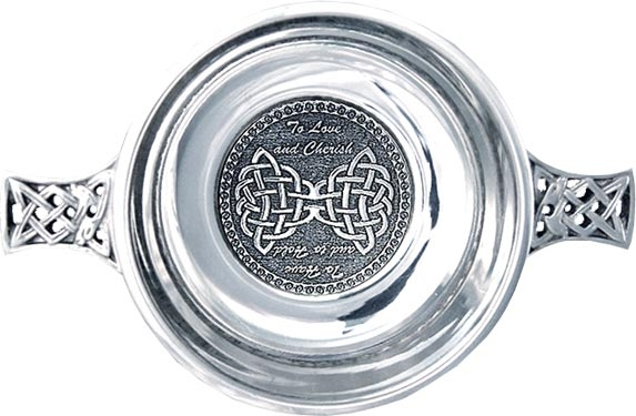 Pewter Quaich Bowl - Wedding Vows