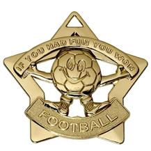 Football Fun Mini Star Medal