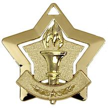 Victory Torch Mini Star Medal