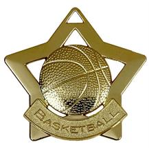 Basketball Mini Star Medal