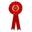 Red 1st Place One Tier Rosette
