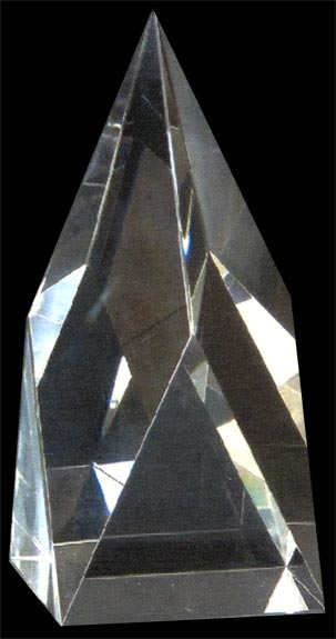 WhiteFire Optical Crystal - Fortrose Obelisk