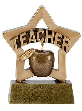 Thank You Teacher Trophy Mini Star Award