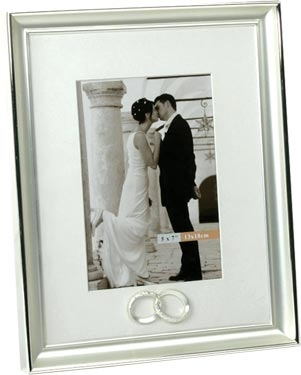 Silver Plated Wedding Photo Frame