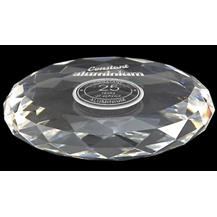 WhiteFire Optical Crystal - Round Paperweight