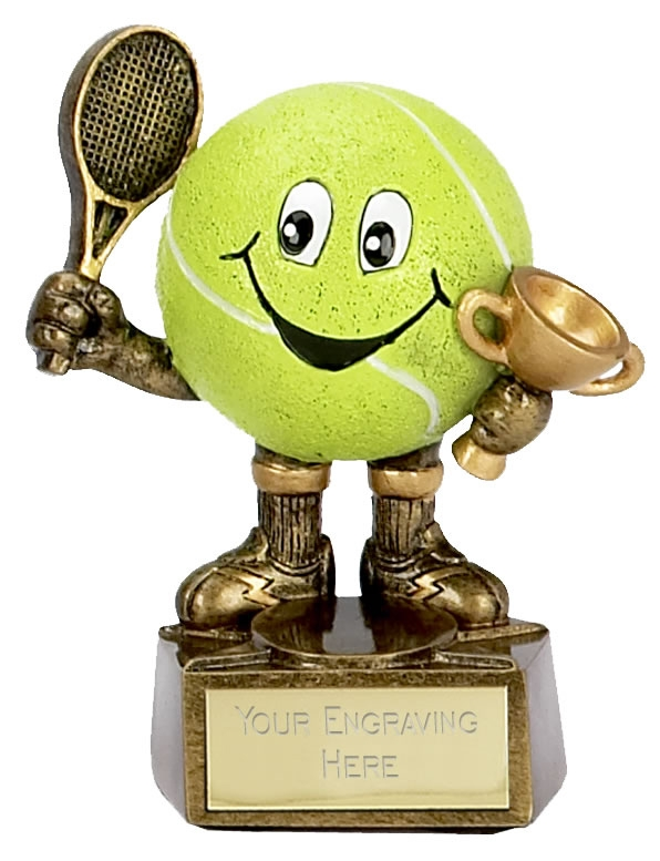 Smiley Tennis Ball Trophy