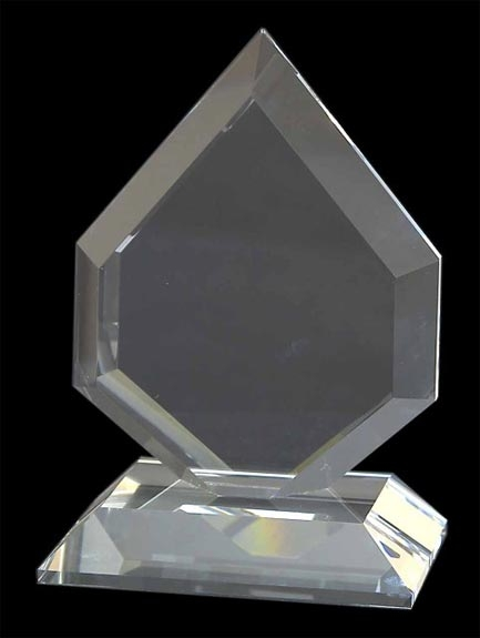 WhiteFire Optical Crystal - Glen Moriston Flat Glass Award