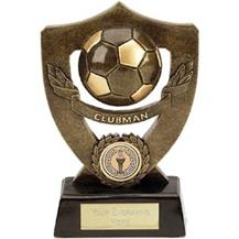 Dual Tone Resin Football Award - Clubman
