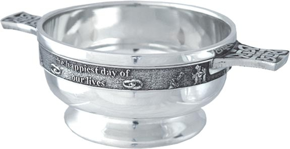 Pewter Quaich Bowl - Wedding 'Thankyou'