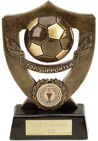 Dual Tone Resin Football Award - Top Supporter