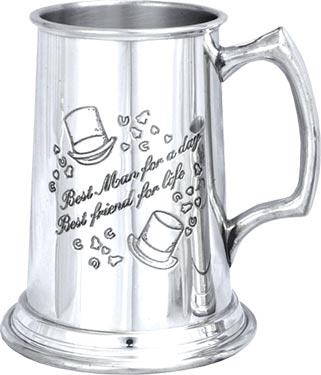 Pewter Tankard - Wedding 'Best Man'