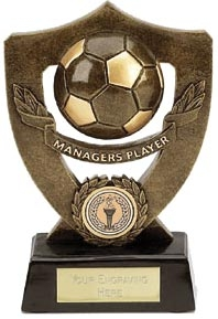 Dual Tone Resin Football Award - Manager's Player