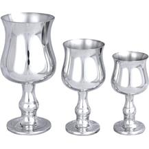 Pewter 'Georgian' Goblets - Three Sizes