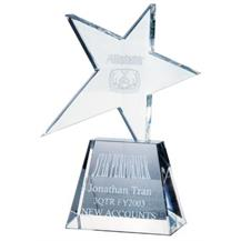 Optical Crystal Meteor Award - Clear