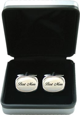 Mother of Pearl Cufflinks - Wedding 'Best Man'