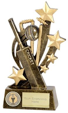 Sentinel Bat & Ball Cricket Trophy