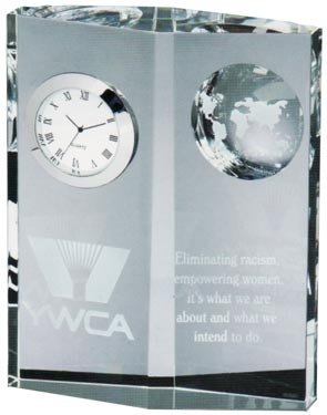 Optical Crystal Globe Clock