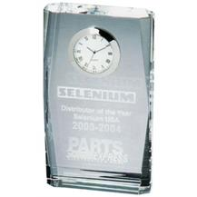 Optical Crystal Beveled Clock Plaque