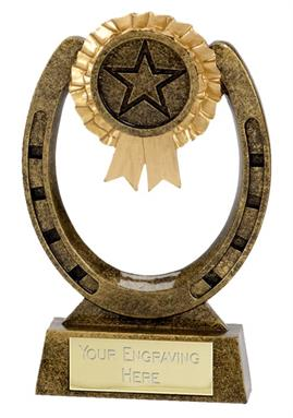 Equestrian Horse Shoe Trophy