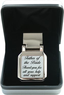 Mother of Pearl Money Clip - Wedding 'Father of the Bride'