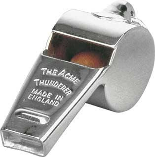 Silver Plated Refereeing Whistle Award