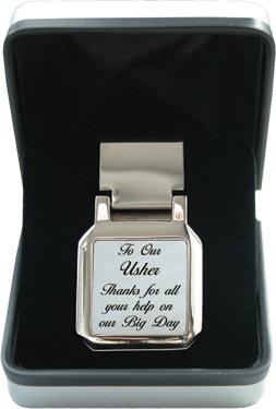 Mother of Pearl Money Clip - Wedding 'Usher'