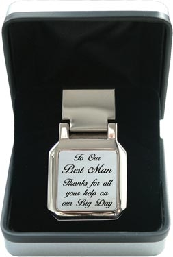Mother of Pearl Money Clip - Wedding 'Best Man'