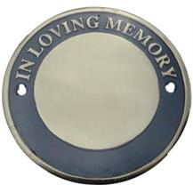 Circular Bench Memorial Plaque