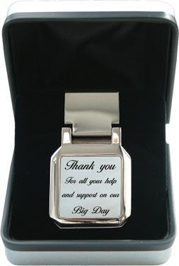 Mother of Pearl Money Clip - Wedding 'Thank you'