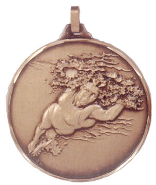 Faceted Swimming Medal - Female