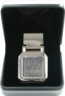 Pewter Money Clip - Wedding 'Father of the Groom'