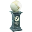 Onyx Marble World Globe on Greek Marble Column