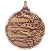 Faceted Swimming Medal - 4 Strokes