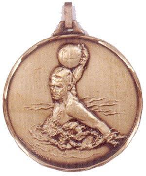 Faceted Water Polo Medal