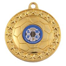 Football 70mm Medal
