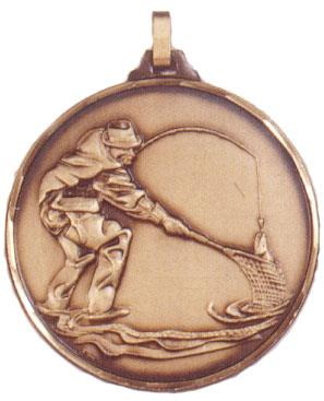 Faceted Angling Medal