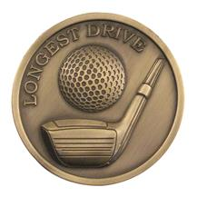 Longest Drive Golf 70mm Medallion