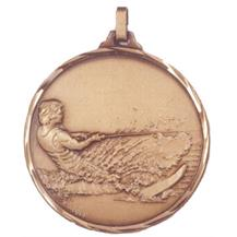 Faceted Water Skiing Medal