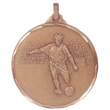Faceted Football Medal - Strike