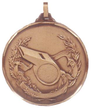 Faceted Referee's Whistle Medal