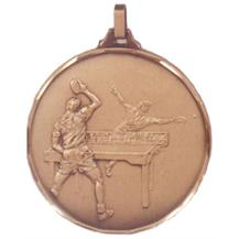 Faceted Table Tennis Medal