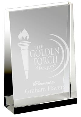 Guardian Crystal Wedge Trophy Award KK002