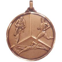 Faceted Triathlon Medal